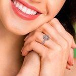 Rose Gold Halo Diamond Engagement Ring (0.75 Carat)   Thumbnail 06