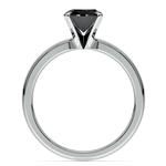 Round Black Diamond Preset Engagement Ring in Platinum (1/3 ctw) | Thumbnail 04