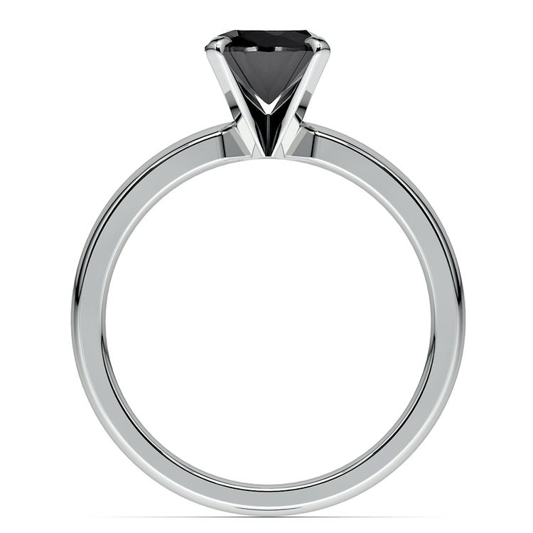 Round Black Diamond Preset Engagement Ring in Platinum (1/3 ctw) | 04