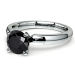 Round Black Diamond Preset Engagement Ring in Platinum (1/4 ctw) | Thumbnail 01