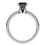 Round Black Diamond Preset Engagement Ring in Platinum (1/4 ctw) | Thumbnail 04