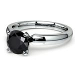 Round Black Diamond Preset Engagement Ring in White Gold (1/4 ctw) | Thumbnail 01