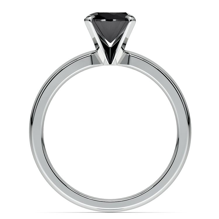 Round Black Diamond Preset Engagement Ring in White Gold (1/4 ctw) | 04