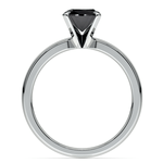 Round Black Diamond Preset Engagement Ring in White Gold (3/4 ctw) | Thumbnail 04