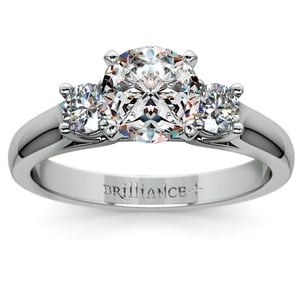Round Diamond Engagement Ring in Platinum (1/3 ctw)
