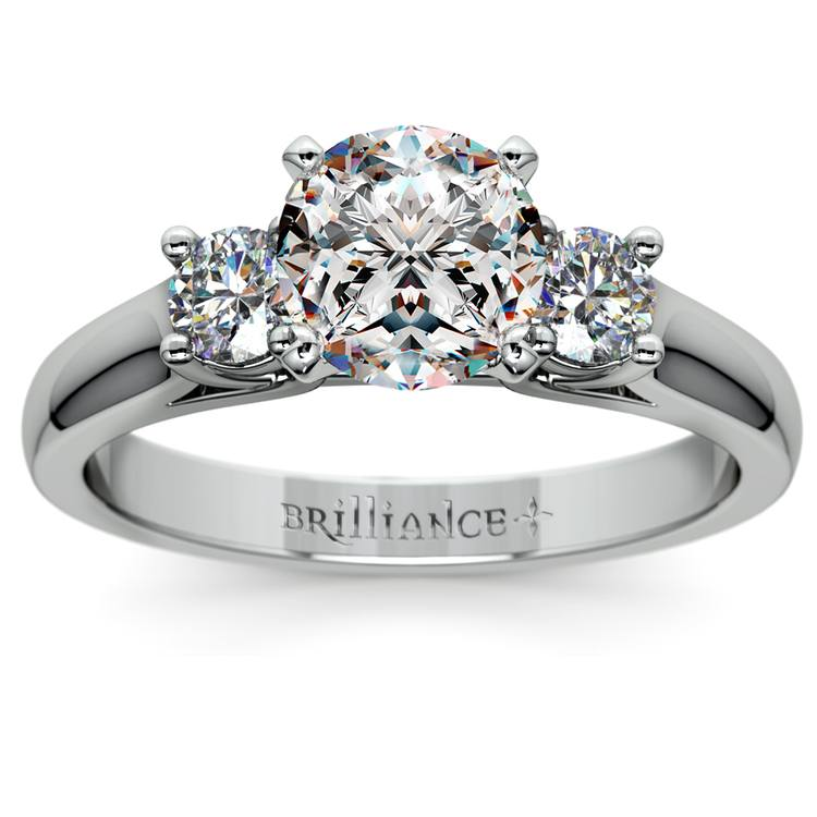 Round Diamond Engagement Ring in Platinum (1/3 ctw) | 01