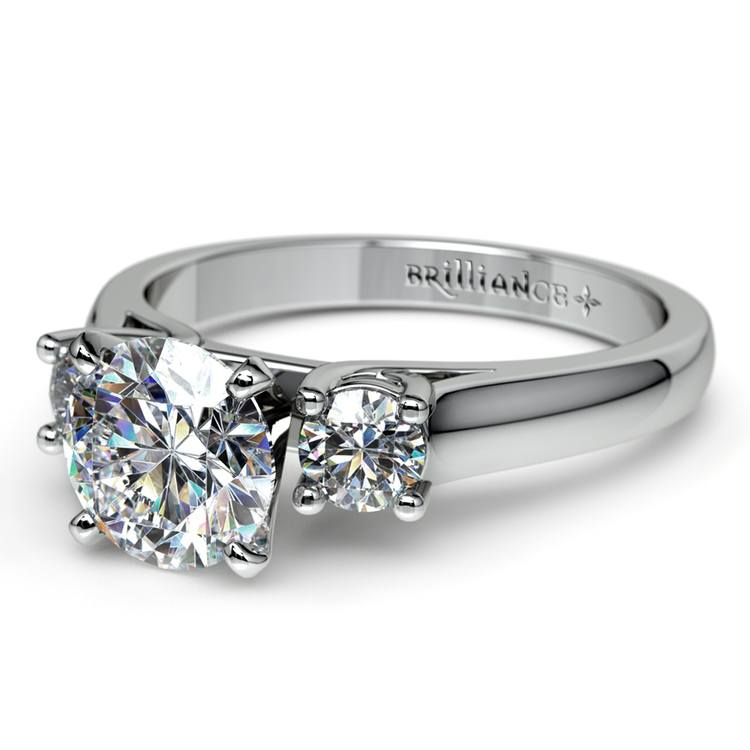 Round Diamond Engagement Ring in Platinum (1/3 ctw) | 04
