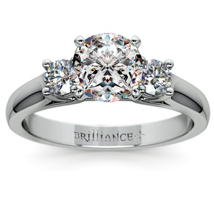 Round Diamond Engagement Ring in White Gold (1/3 ctw)