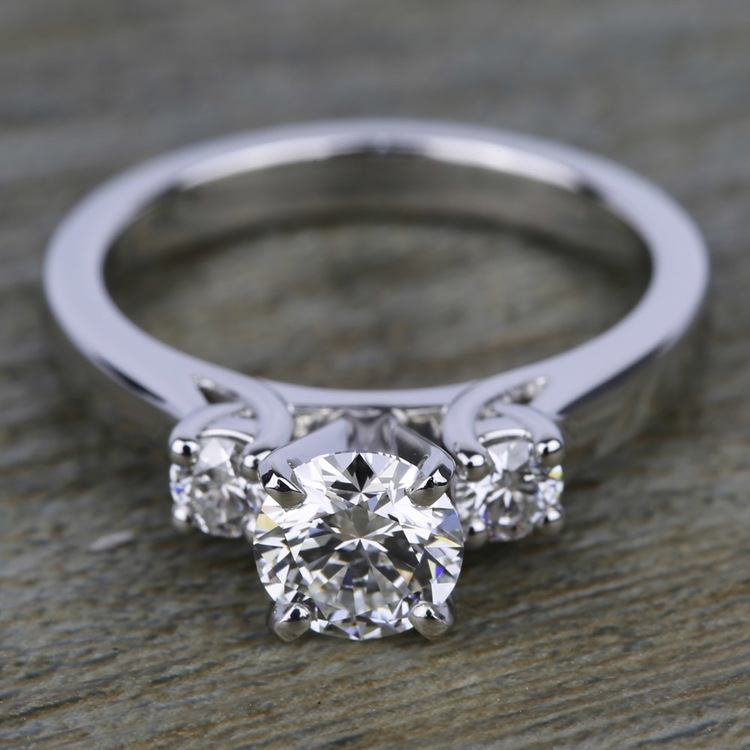 Round Diamond Engagement Ring in White Gold (1/3 ctw) | 05