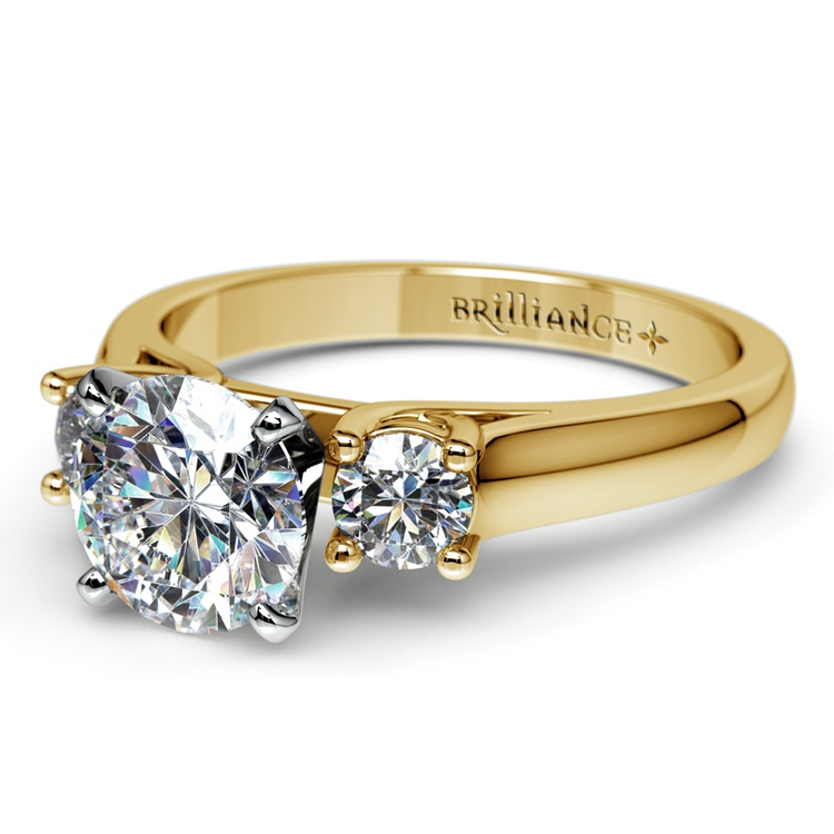 Round Diamond Engagement Ring in Yellow Gold (1/3 ctw) | 04