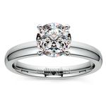 Round Diamond Preset Engagement Ring in Platinum (1/3 ctw) | Thumbnail 02