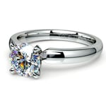 Round Diamond Preset Engagement Ring in White  Gold (1/3 ctw) | Thumbnail 01