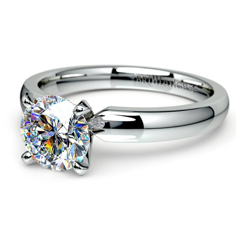 Round Diamond Preset Engagement Ring in White  Gold (1/3 ctw) | 01