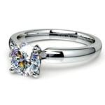 Round Diamond Preset Engagement Ring in White Gold (1 ctw) | Thumbnail 01