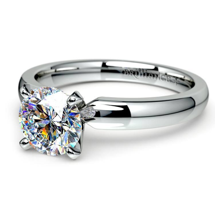 Round Diamond Preset Engagement Ring in White Gold (1 ctw) | 01