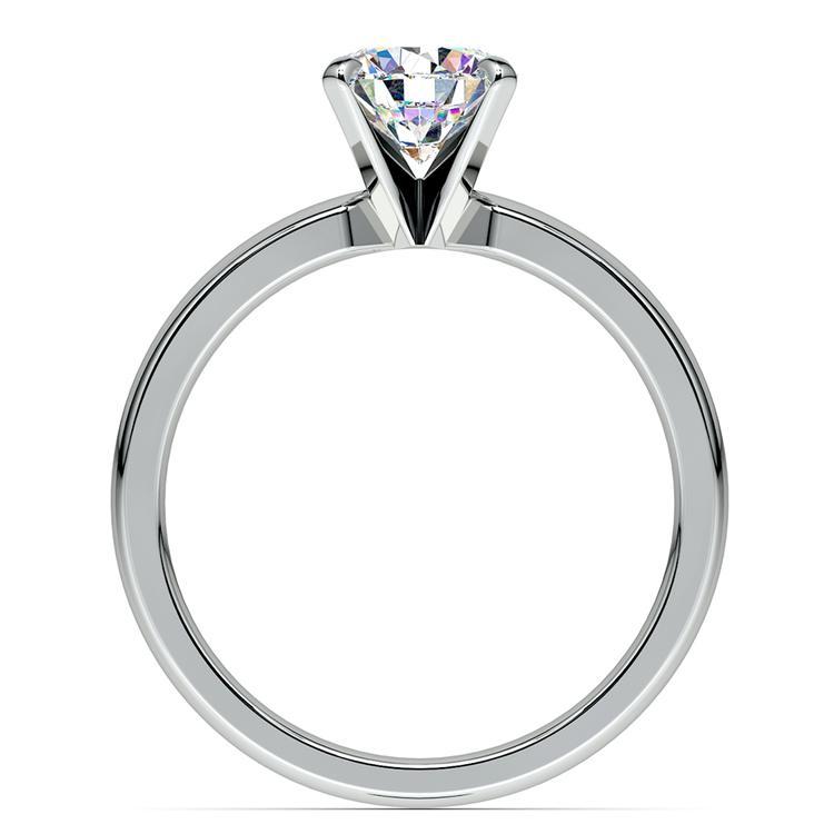Round Diamond Preset Engagement Ring in White Gold (1 ctw)   04