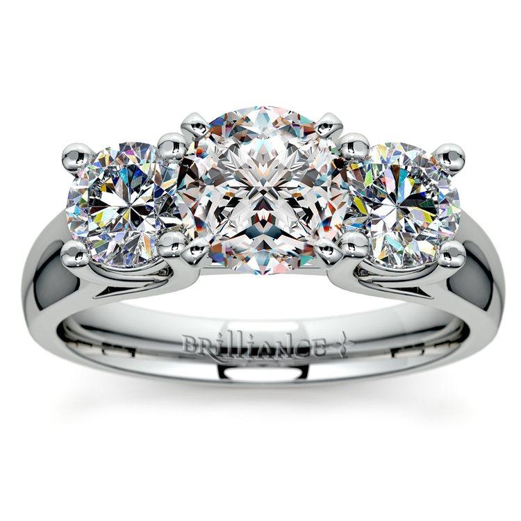 Round Diamond Engagement Ring in Platinum (1 ctw) | 01