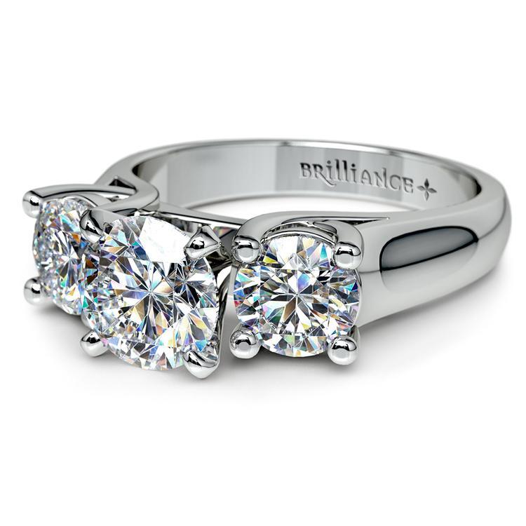 Round Diamond Engagement Ring in Platinum (1 ctw) | 04