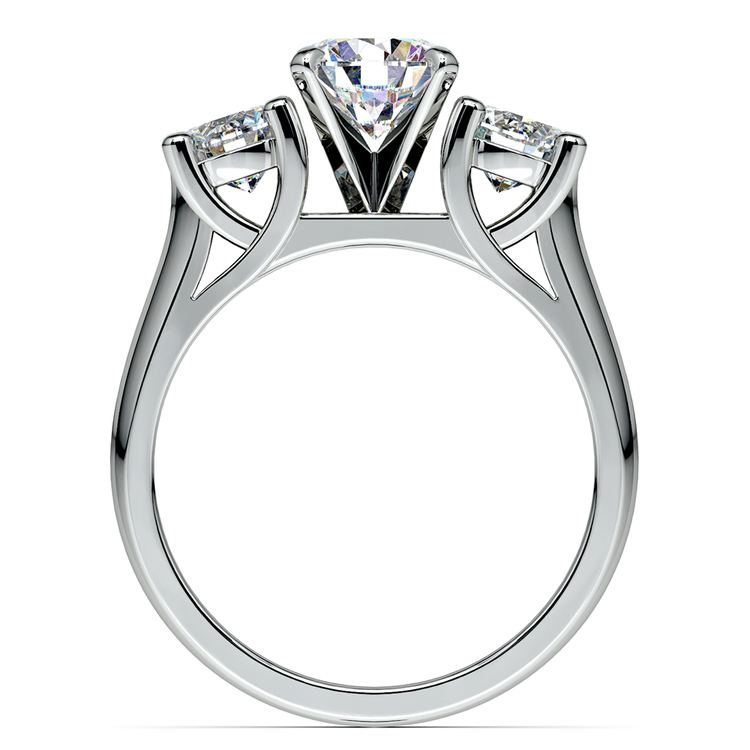 Round Diamond Engagement Ring in White Gold (1 ctw)   02