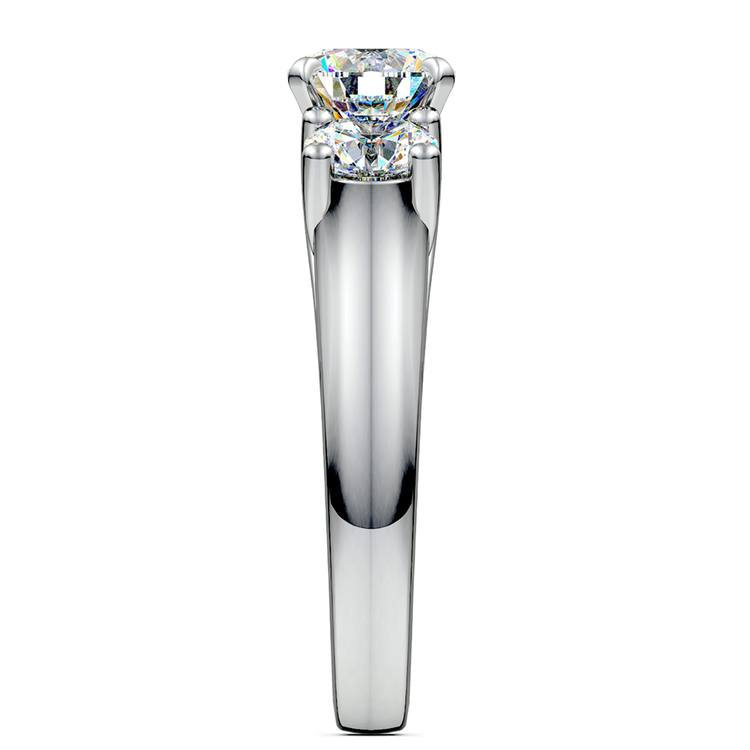 Round Diamond Engagement Ring in White Gold (1 ctw)   03