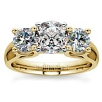 Round Diamond Engagement Ring in Yellow Gold (1 ctw) | Thumbnail 01