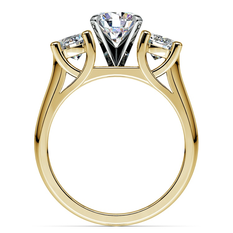 Round Diamond Engagement Ring in Yellow Gold (1 ctw) | 02