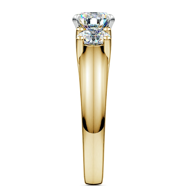 Round Diamond Engagement Ring in Yellow Gold (1 ctw) | 03