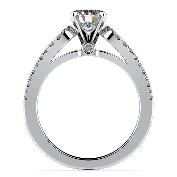 Round Petal Loop Diamond Engagement Ring in Platinum | 02