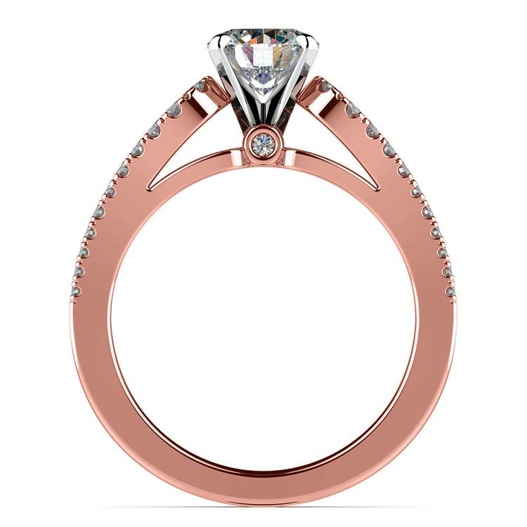 Round Petal Loop Diamond Engagement Ring in Rose Gold | 02