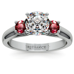 Round Ruby Gemstone Engagement Ring in Platinum | Thumbnail 01