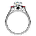 Round Ruby Gemstone Engagement Ring in Platinum | Thumbnail 02