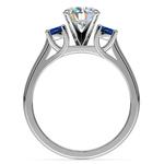 Round Sapphire Gemstone Engagement Ring in Palladium | Thumbnail 02