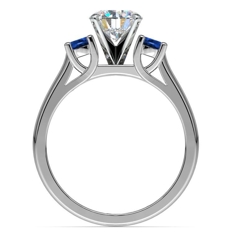 Round Sapphire Gemstone Engagement Ring in Palladium | 02