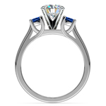 Round Sapphire Gemstone Engagement Ring in White Gold | Thumbnail 02