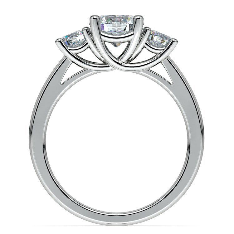 Round Three Diamond Preset Engagement Ring in Platinum (1 1/4 ctw) | 03