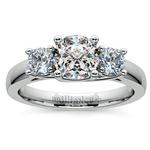 Round Three Diamond Preset Engagement Ring in Platinum (1/2 ctw) | Thumbnail 02
