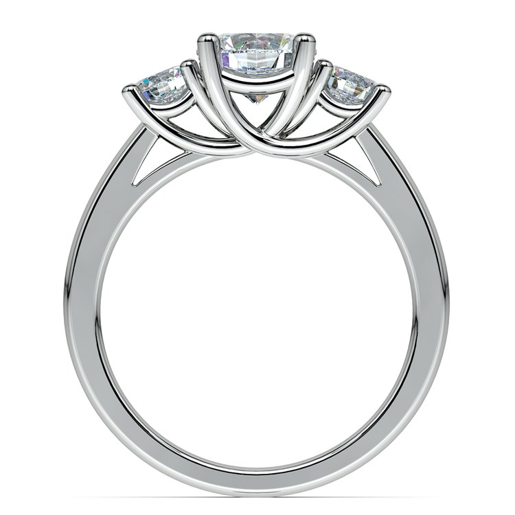 Round Three Diamond Preset Engagement Ring in White Gold (1 1/2 ctw) | 03