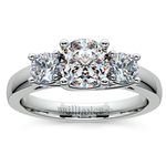 Round Three Diamond Preset Engagement Ring in White Gold (1 1/4 ctw) | Thumbnail 02