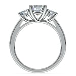Round Three Diamond Preset Engagement Ring in White Gold (1 1/4 ctw) | Thumbnail 03