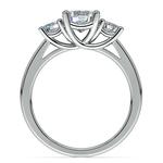 Round Three Diamond Preset Engagement Ring in White Gold (1 ctw) | Thumbnail 03