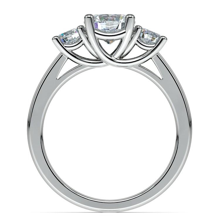 Round Three Diamond Preset Engagement Ring in White Gold (3/4 ctw) | 03