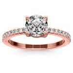 Scallop Diamond Engagement Ring in Rose Gold (1/5 ctw) | Thumbnail 01