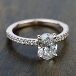 Scallop Diamond Engagement Ring in Rose Gold (1/5 ctw) | Thumbnail 05