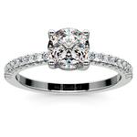 Scallop Diamond Engagement Ring in Platinum (1/5 ctw) | Thumbnail 01