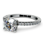 Scallop Diamond Engagement Ring in Platinum (1/5 ctw) | Thumbnail 04