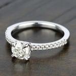 Scallop Diamond Engagement Ring in Platinum (1/5 ctw) | Thumbnail 05