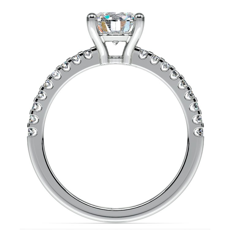 Scallop Diamond Engagement Ring in Platinum (1/5 ctw) | 02