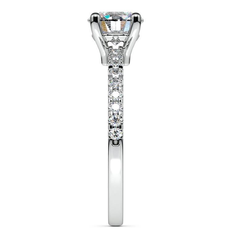 Scallop Diamond Engagement Ring in Platinum (1/5 ctw) | 03