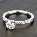 Scallop Diamond Engagement Ring in White Gold (1/5 ctw) | Thumbnail 05