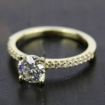Scallop Diamond Engagement Ring in Yellow Gold (1/5 ctw) | Thumbnail 05